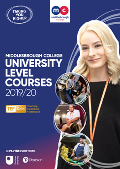 Middlesbrough College Higher Education Course Guide