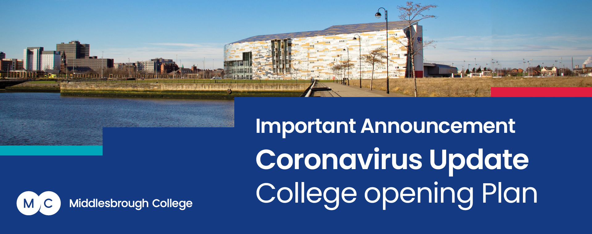 Middlesbrough College Campus Reopening