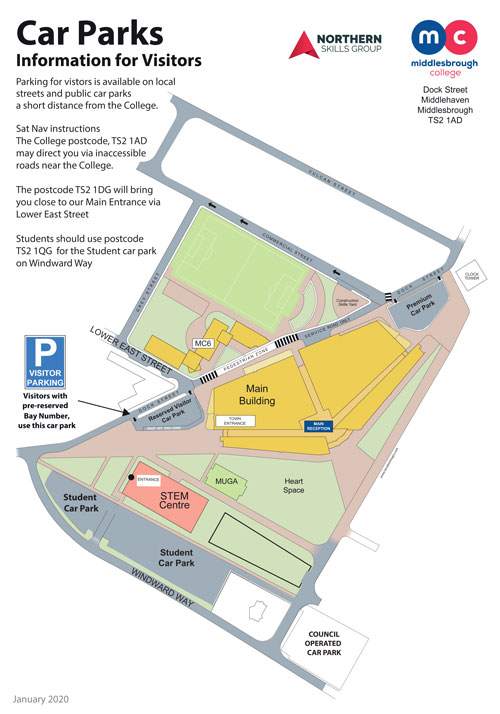 Middlesbrough-College-Car-Park-Information