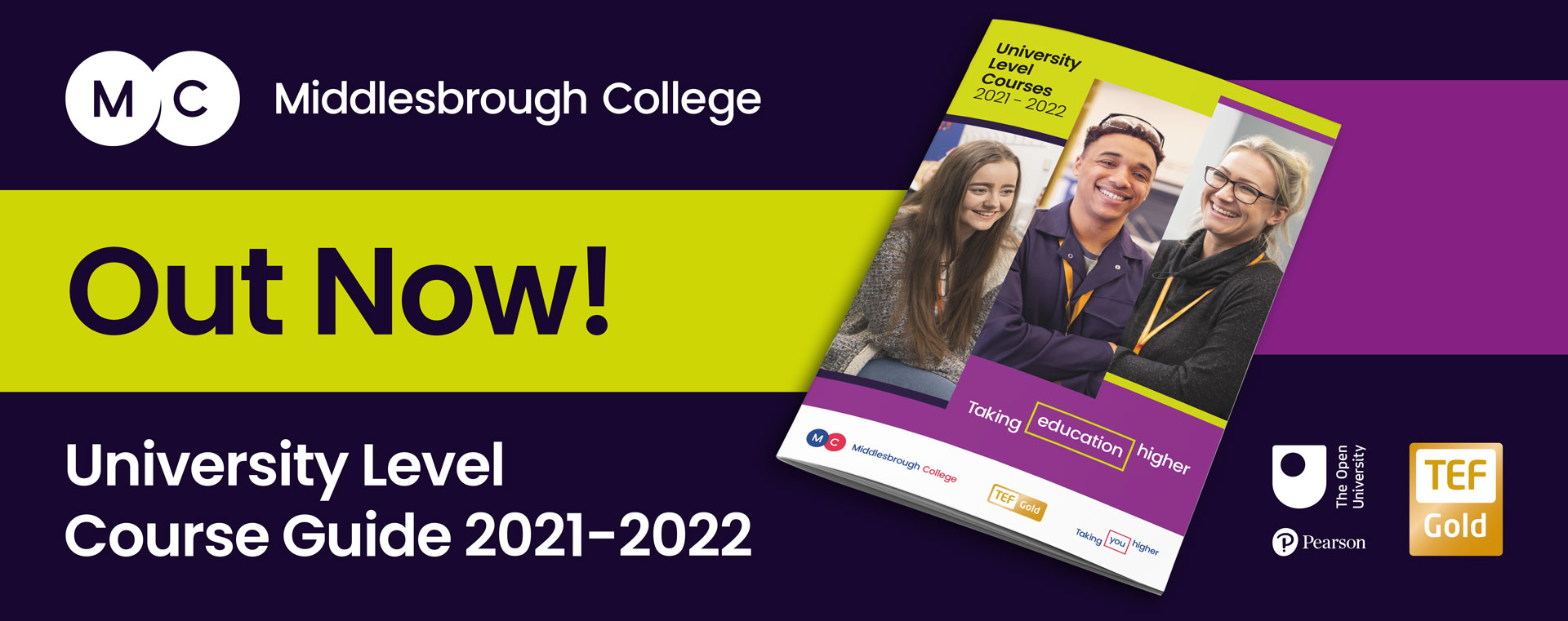 Middlesbrough College HE course guide