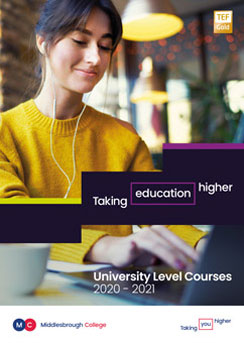 Middlesbrough College Higher Education Guide 2020