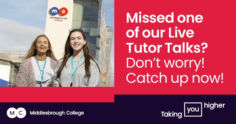 Middlesbrough College Live Tutor Talks Mobile