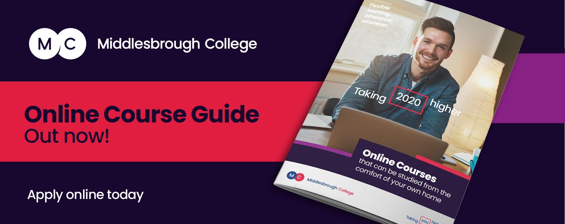 Middlesbrough College Online Learning Brochure