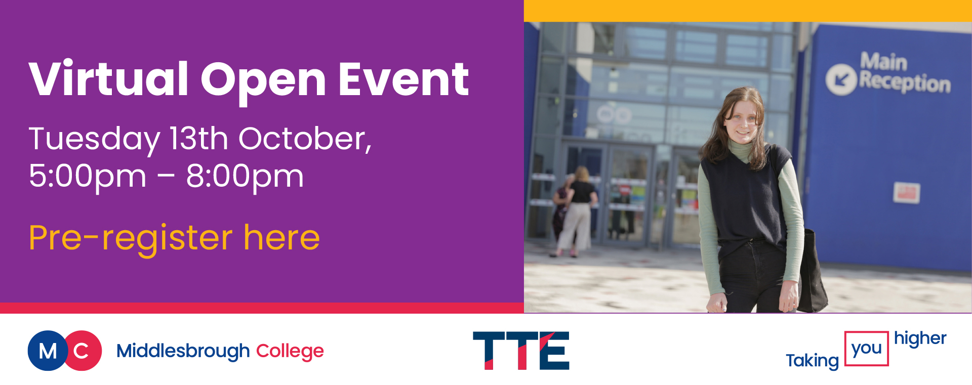 Middlesbrough College Virtual Open Event