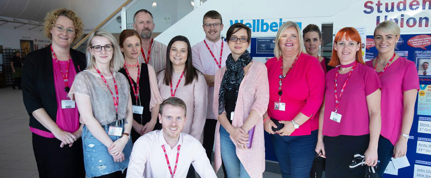 Wear it Pink Day at Middlesbrough College